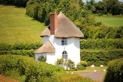 The Round House (also known as The Toll House) at Stanton Drew. Somerset, England