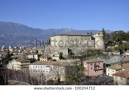 The Rovereto city as seen from above