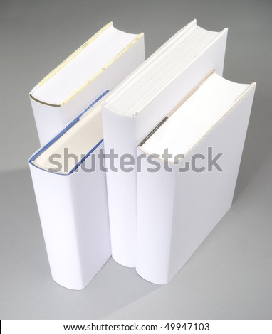 The row of blank books with white cover