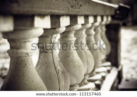 The row of columns