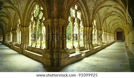 The Royal Abbey of Santa Maria de Poblet, Spain, UNESCO World Heritage Site - This Cistercian abbey in Catalonia is one of the largest in Spain. At its centre is a 12th-century church.