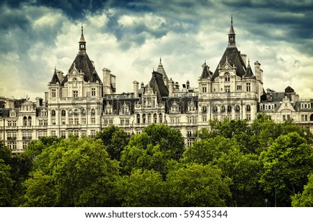 The Royal Horseguards  originally built in 1884 in style of a French château as the home of the National Liberal Club.