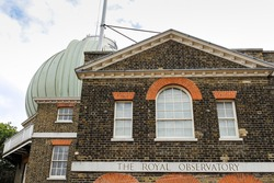The Royal Observatory, Greenwich (known as the Royal Greenwich Observatory) is an observatory situated on a hill in Greenwich Park, overlooking the River Thames. London, United Kingdom.