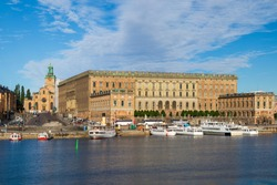 The Royal Palace is located in Gamla Stan in Stockholm, Sweden