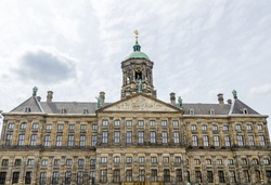 The Royal Palace (Koninklijk Paleis Amsterdam or Paleis op de Dam) at the Dam Square in Amsterdam, The Netherlands