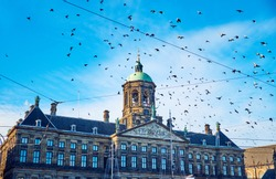 The Royal Palace of Amsterdam in Amsterdam