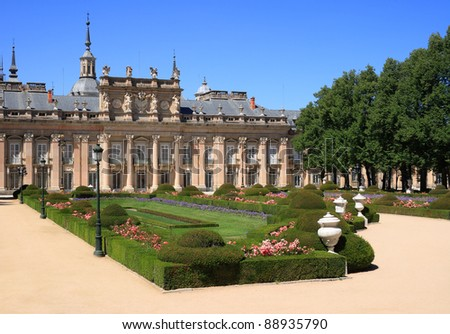 The Royal Palace of La Granja de San Ildefonso is an 18th century palace in Segovia province, near Madrid (Spain), formerly the summer residence of the Kings of Spain since the reign of Felipe V. #88935790
