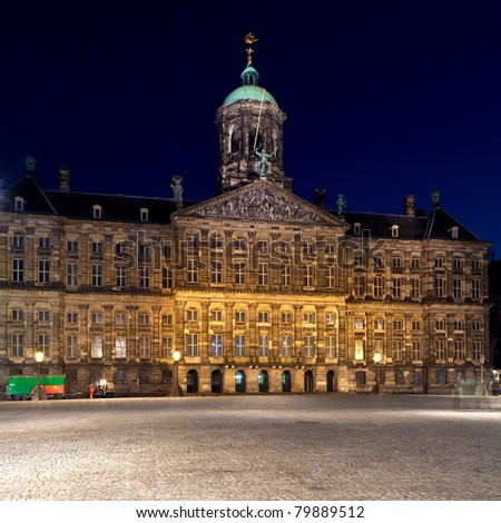 The Royal Palace (1648) on Dam square, Amsterdam, Netherlands