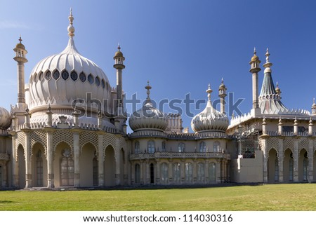 The Royal Pavilion a former Royal residence located in Brighton, England East Sussex