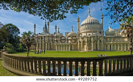 The Royal Pavilion, built for King George IV in the early 19C at Brighton, Sussex, England. - stock photo
