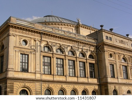 The Royal Theatre in the old part of Copenhagen