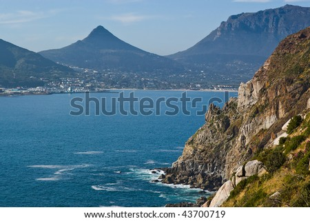 The rugged coast and mountains near Capetown, South Africa
