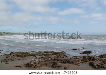 the rugged coast of the south coast of ireland