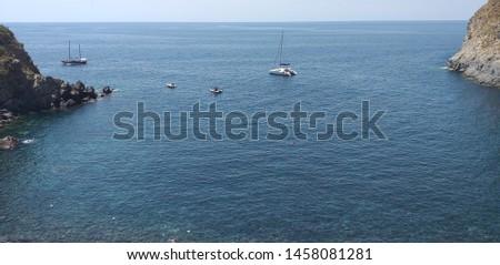 the rugged coastline of Italy. #1458081281