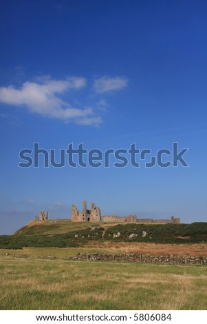 The Ruined Castle at Dunstanburgh owned by English Heritage
