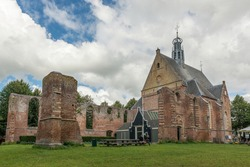 The ruined church of Bergen in North Holland, the Netherlands.