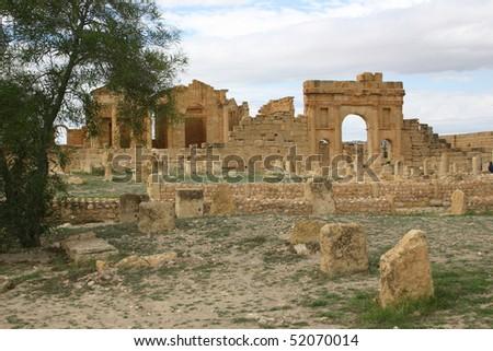 The Ruined City of Sufetula, Sbeitla, Tunisia