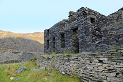 The ruins of an abandoned slate mine in Wales