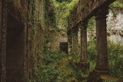 The ruins of Convent of Saint Francis of Mount (Sao Francisco do Monte), located in the parish of Santa Maria Maior, municipality and district of Viana do Castelo, in Portugal.