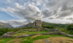 The ruins of Dolbadarn Castle in Llanberis, North Wales.