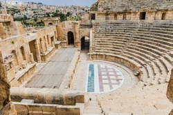 The ruins of Jerash in Jordan are the best preserved city of the early Greco-Roman era, it is the largest acropolis of East Asia.  The North Theatre
