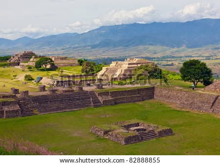 The ruins  of Monte Alban - Oaxaca, Mexico