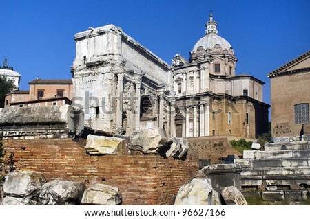 the ruins of Rome, the Forum Romano