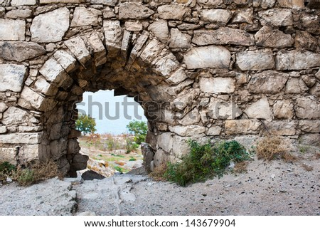 The ruins of the ancient city of Chersonesos