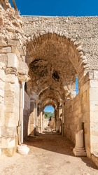 The ruins of the church by Knights Hospitaller in Eleutheropolis - Beit Guvrin-Maresha National Park. Israel.