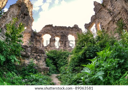 The Ruins of the wall The Ukraine, Transcarpathia