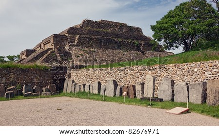The ruins of the Zapotec city of Monte Alban - Oaxaca, Mexico.