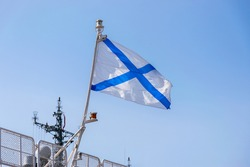 The Russian Navy flag also known as the St Andrews's flag.