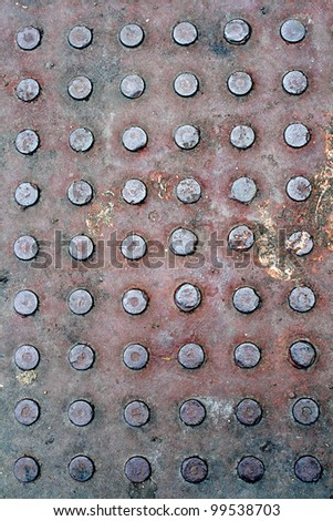The rusty metal sheet background