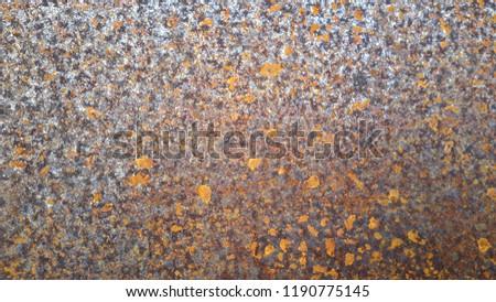 The rusty on metal #1190775145