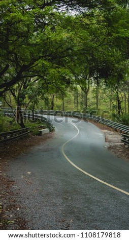 The S curve coming down from Yelagiri hills. Awesome road, awesome surrounding and awesome weather