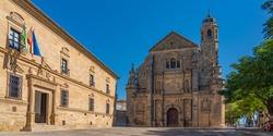 The Sacred Chapel of El Salvador ,Capilla del Salvador, and the Plaza de Vazquez de Molina, Ubeda, Jaen Province, Andalusia, Spain, Western Europe.