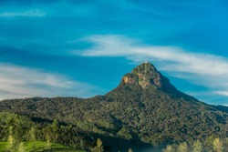 The sacred Sri Pada mountain also known as Adam's peak in Sri Lanka