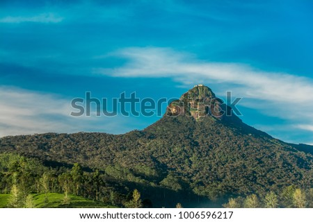The sacred Sri Pada mountain also known as Adam's peak in Sri Lanka