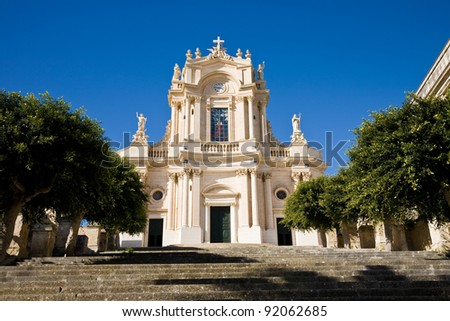 The Saint John Evangelist church in Modica, a Sicilian town in southern Italy
