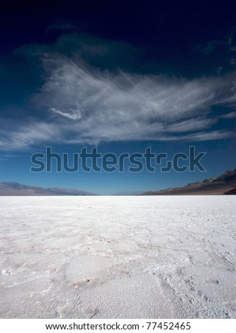 The salt pan in Badwater, Death Valley National Park, California, USA
