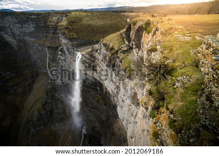 The Salto del rio Nervión in Amurrio, Alava, is one of the largest waterfalls in Spain  Foto stock ©