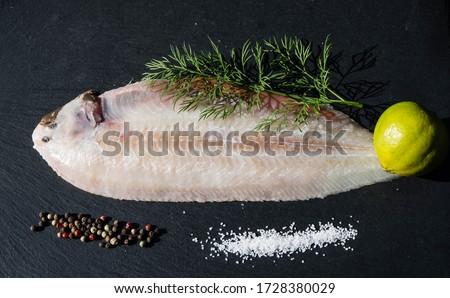 The saltwater sole a delicious flatfish Foto d'archivio ©