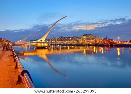 the samuel beckett bridge in...