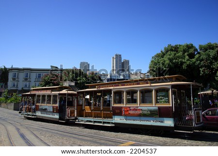 The San Francisco cable car system is the world's last permanently operational manually-operated cable car system, and is now an icon of the city of San Francisco in California.