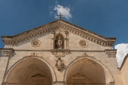 The sanctuary of San Michele Arcangelo is located in Monte Sant'Angelo, on the Gargano, in the province of Foggia. It is known as Celeste Basilica.