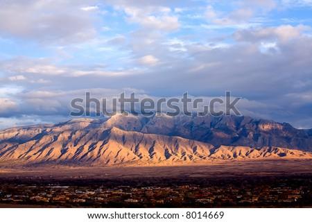 The Sandias east of Albuquerque, NM.