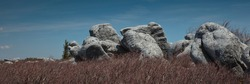 The sandstone rock formations at Bear Rocks in Dolly Sods Wilderness Area in Monongahela National Forrest in West Virginia, USA
