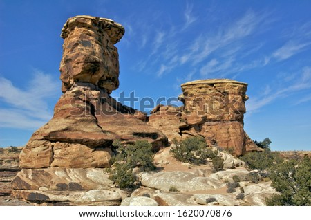 The Sandstone rocks of Canyonlands National Park have been balancing for millenia. Zdjęcia stock ©