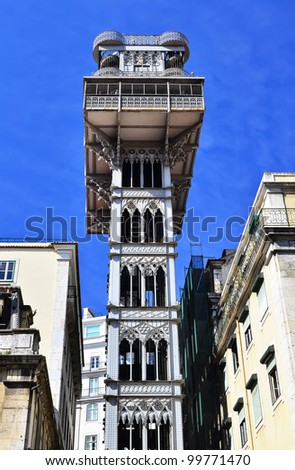 The Santa Justa Lift (Elevador de Santa Justa), also called Carmo Lift is a elevator in the historical city of Lisbon, Portugal