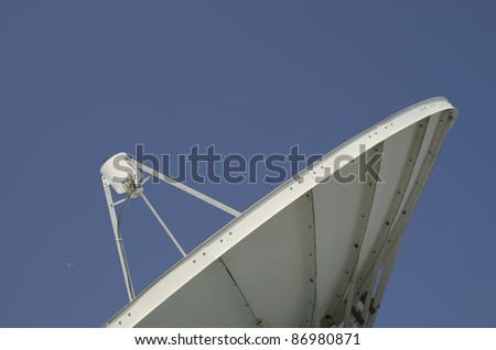 The satellite dish antenna is vital for modern communications